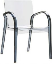 Thermo Plastic Dejavue Stacking Armchair - Smoke Grey